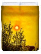 Skies Of Smoke And Fire Duvet Cover