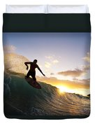 Skimboarding At Sunset I Duvet Cover