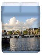 Skinny Bridge In Amsterdam Duvet Cover