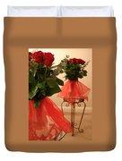 Skirted Roses In Mirror Duvet Cover