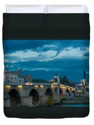 Skopje Stone Bridge Duvet Cover