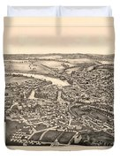Skowhegan Maine 1892 Duvet Cover