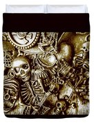 Skull And Cross Bone Treasure Duvet Cover