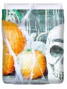 Skull And Pumpkin Duvet Cover