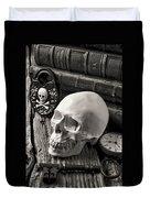 Skull And Skeleton Key Duvet Cover