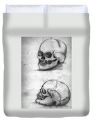 Skull Drawing Duvet Cover