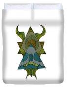 Skull Horns Triangles Duvet Cover