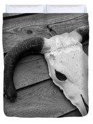 Skull In North Dakota  Duvet Cover