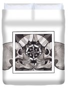Skull Mandala Series Nr 1 Duvet Cover by Deadcharming Art