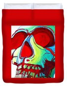 Skull Original Madart Painting Duvet Cover