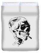 Skull Smoking A Cigarette Duvet Cover