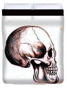 Skull Study 4 Duvet Cover by Reed Novotny