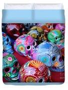 Skulls Day Of The Dead  Duvet Cover