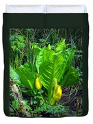 Skunk Cabbage In Bloom Duvet Cover