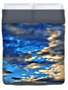 Sky And Clouds Duvet Cover