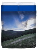 Sky And Mountains Duvet Cover