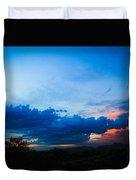 Sky Blue Sky Black Duvet Cover