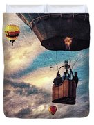 Sky Caravan Hot Air Balloons Duvet Cover