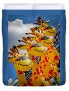 Sky Giraffes Duvet Cover