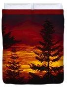 Sky Of Fire Duvet Cover