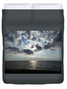 Sky Over Oval Beach Lake Michigan 1 Duvet Cover
