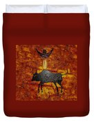 Sky People Taking Buffalo Duvet Cover
