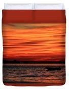 Sky Ripple Sunset Duvet Cover