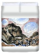 Skye Snow Clouds  Duvet Cover