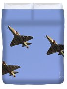 Skyhawk Fighter Jet In Formation  Duvet Cover