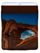 Skyline Arch At Sunset Duvet Cover