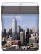 Skyline Of Dallas Texas On A Sunny Day Duvet Cover