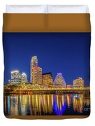 Skyline Of Downtown Austin Duvet Cover