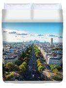 Skyline Of Paris, France Duvet Cover