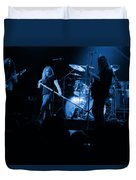Skynyrd Sf 1975 #10 Crop 2 Enhanced In Blue Duvet Cover