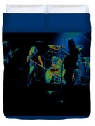 Skynyrd Sf 1975 #10 Crop 2 Enhanced In Cosmicolors Duvet Cover