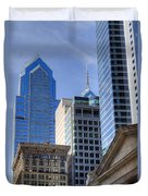 Skyscraper City Center  Liberty Place Duvet Cover