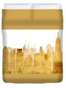 Skyscrapers - Panorama Of Modern Skyscraper Town Duvet Cover