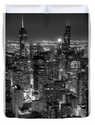 Skyscrapers Of Chicago Duvet Cover