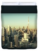 Skyscrapers Of Dubai At Sunset Duvet Cover