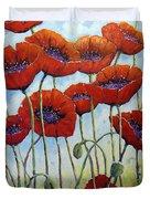 Skyward Poppies Duvet Cover
