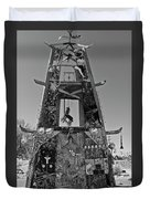Slab City Museum Tower Bw Duvet Cover