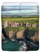 Slains Castle Duvet Cover