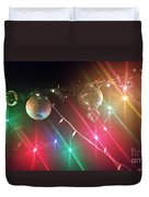 Slap Happy Christmas Lites Duvet Cover