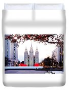 Slc Temple Red And White Duvet Cover