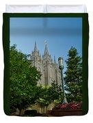 Slc Temple Walk Duvet Cover by La Rae  Roberts