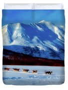 Sledding In Russia Duvet Cover