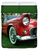 Sleek Red Duvet Cover