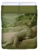 Sleep Behind The River Duvet Cover