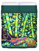 Sleep To Dream Silkpainting Belize Duvet Cover