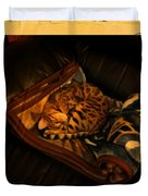 Sleeping Cat Digital Painting Duvet Cover